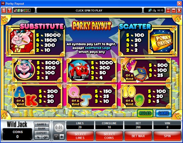 Slot Machine Payouts -948140