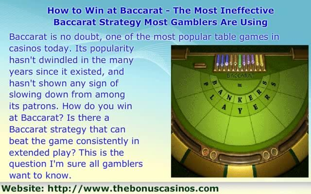 Baccarat Strategy Possible -936747