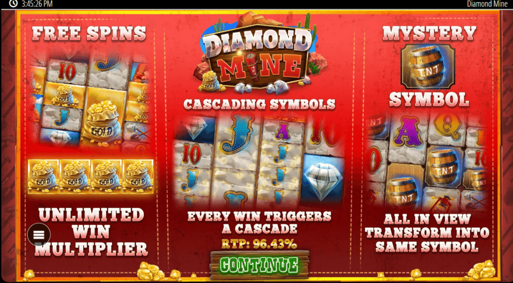 Diamond Mine Slot -211503
