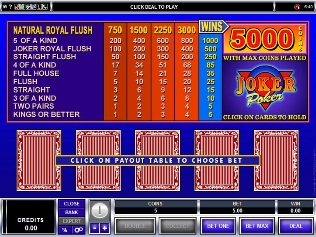 Video Poker Pay -48338